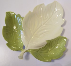 Carlton Ware Large Leaf Salad Range - Two-Tone Dish 1950s