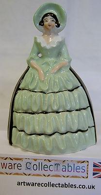 Art Deco Carlton Ware Crinoline Lady Napkin Ring Holder Circa 1930\u2019s