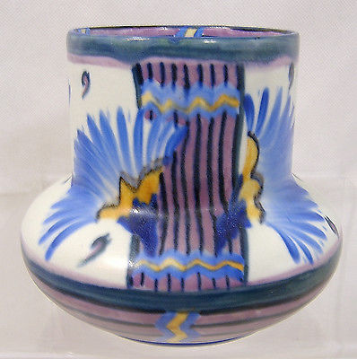 Carlton Ware Handcraft Flowering Papyrus Small Squat Vase 1930s Sold