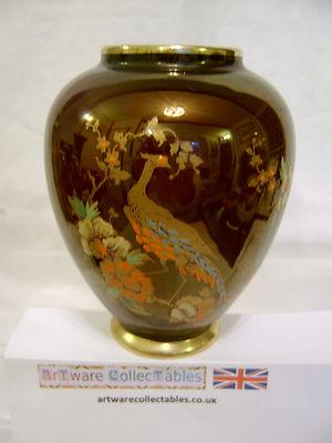 Carlton Ware Pheasant Rouge Lustre Ovoid Vase 1930s Sold